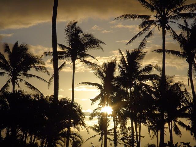Free fiji sky clouds sunset colorful colors beautiful