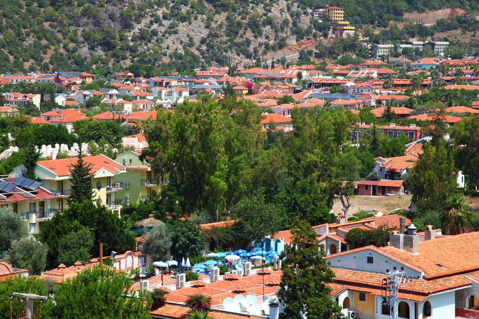 Free Red roofs with plenty of solar panels in Oludeniz town