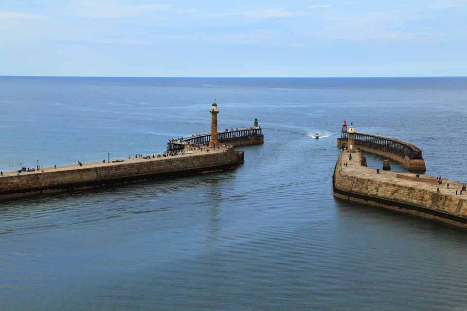 Free Harbor entrance in Whitby England