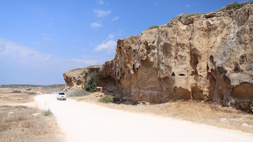 Free Sandstone rocks in Akamas park - Cyprus