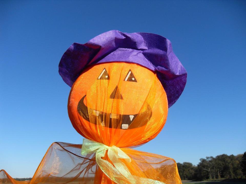 Free Funny Halloween pumpkin ornament