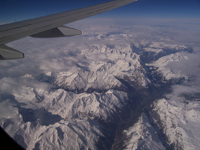 Free flying alps mountains switzerland snow
