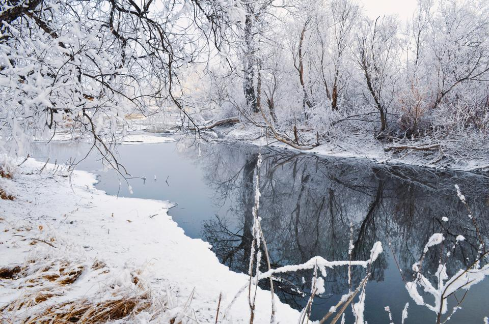 Free Whole river is not frozen