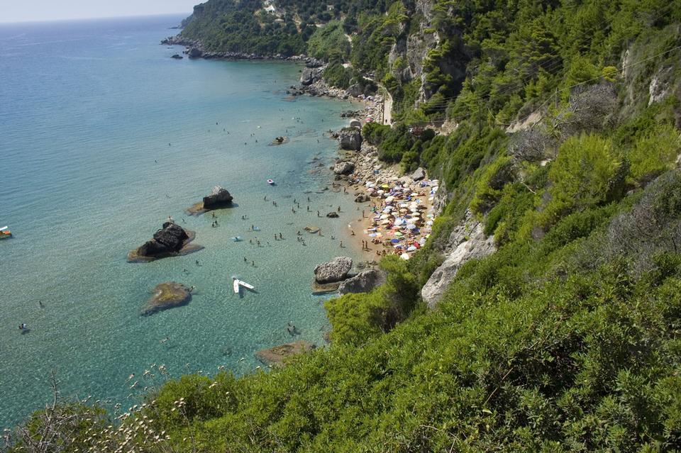 Free Beautiful  beach in Corfu Greece