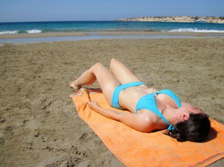 Free Beautiful Lady on the Beach