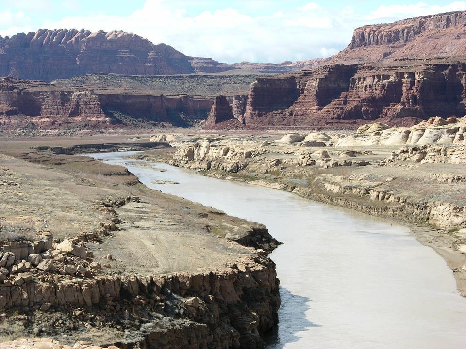 Free Colorado River flowing through the arid southwest