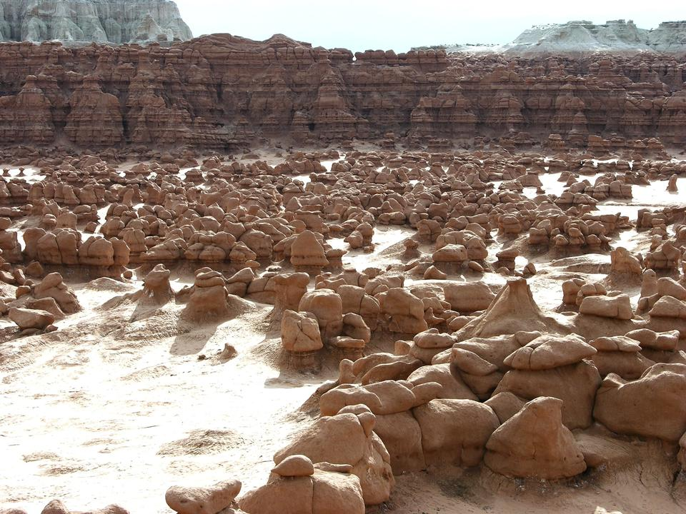 Free Goblin Valley State Park. Wind and water