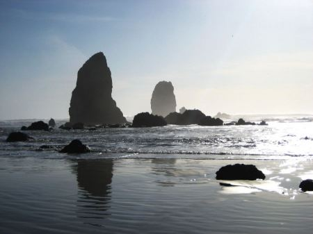 Free Sea stacks surf, and sun Oregon coast