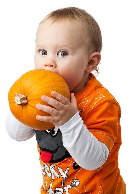 Free autumn baby boy child cute face fall halloween