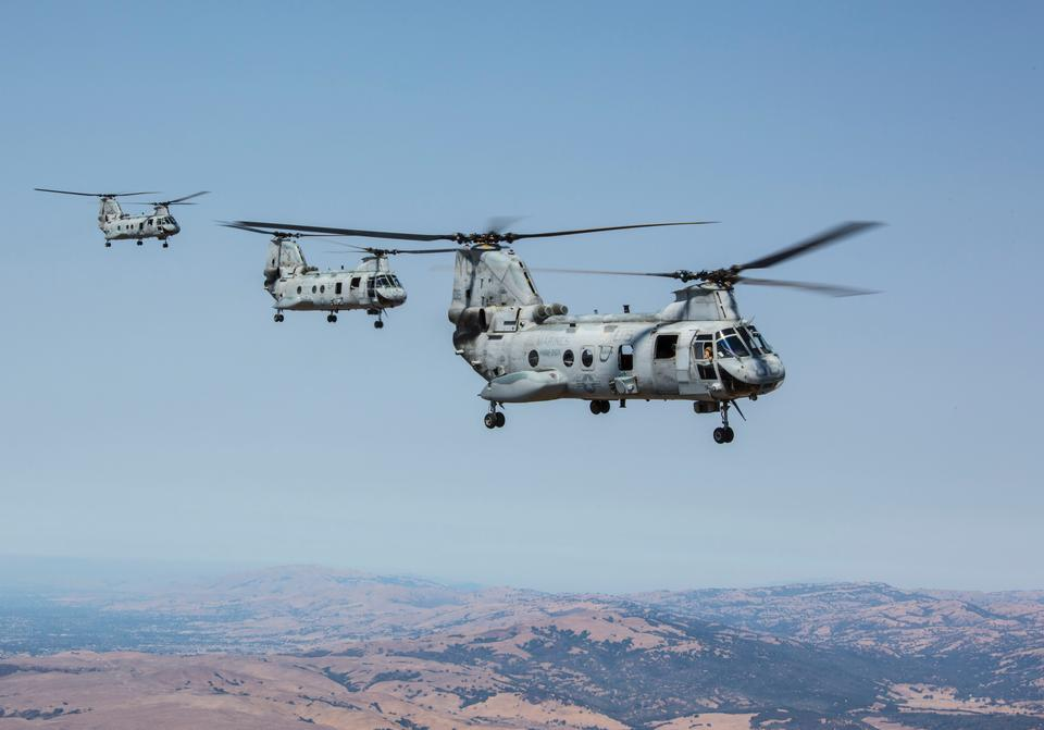 Free Three CH-46E Sea Knights with Marine Squadron 2