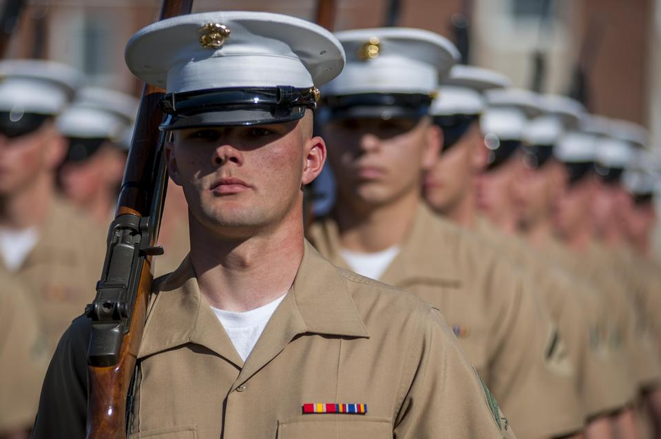 Free Ceremonial marchers from Marine Barracks Washington