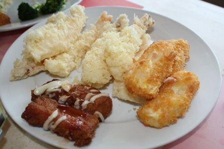 Free shrimp tempura