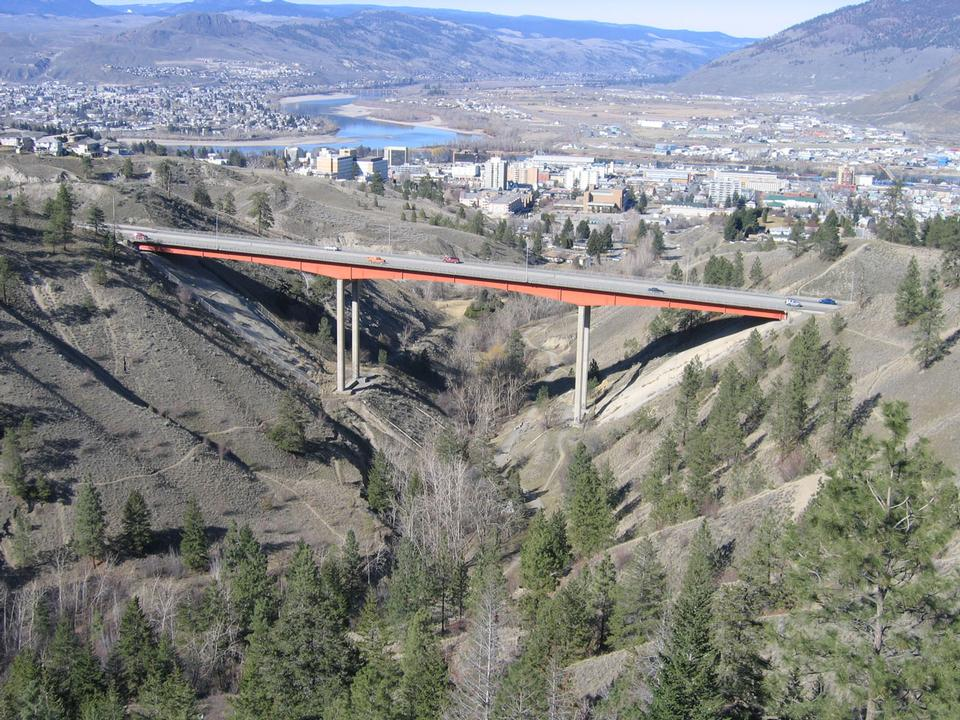 Free Kamloops, BC, Canada with Peterson Cr Bridge in Foreground