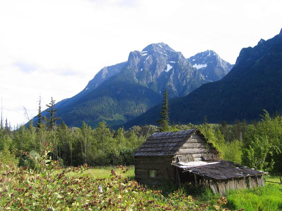 Free Abandoned Cabin along the road to Bella Coola, British Columbia