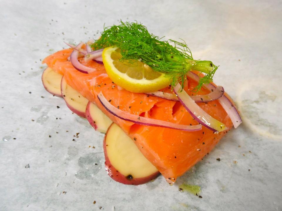 Free Salmon En Papillote Food - Japanese Food
