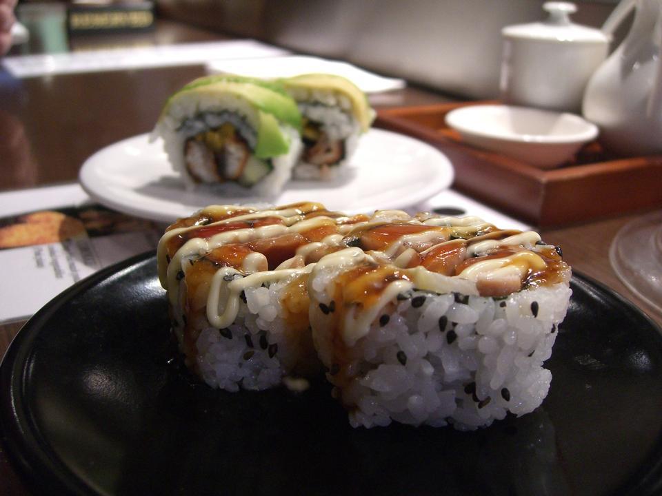 Free Teriyaki Chicken Sushi Roll - Japanese Food