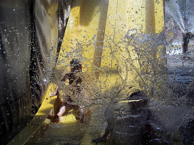 Free water slide waterslide splash children child wet