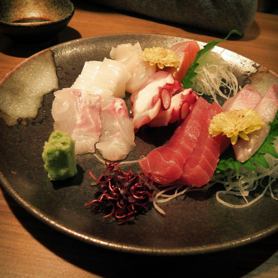 Free Sashimi platter - Japanese Food
