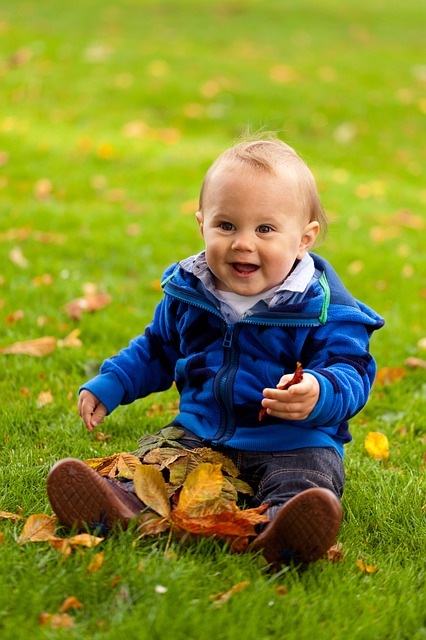 Free autumn baby boy cheerful child cute fall fun