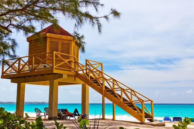 Free lifeguard beach tower life yellow safety guard