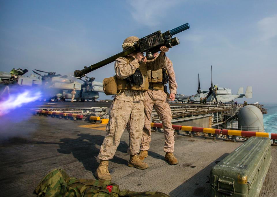 Free U.S. Marines assigned to Low Altitude Air Defense Platoon