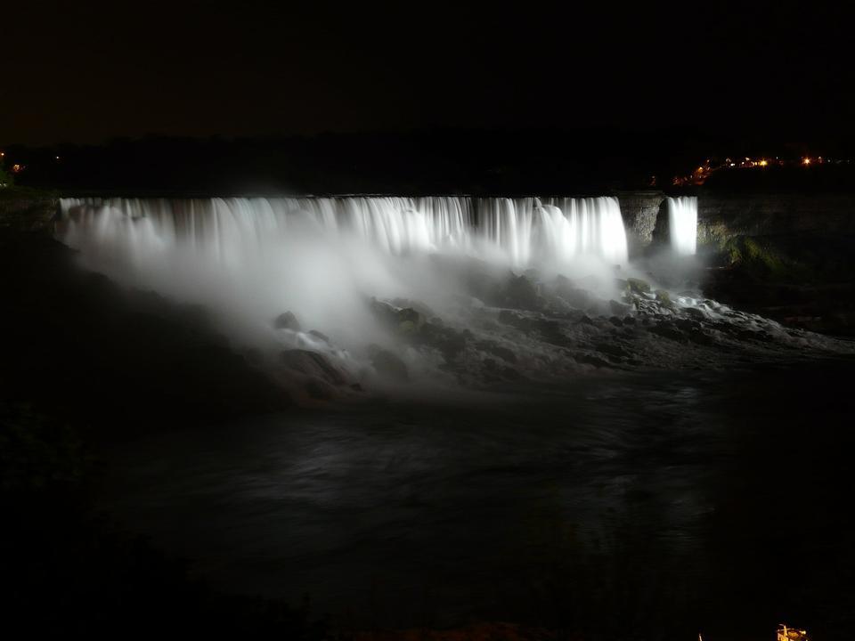 Free Niagara Falls at Night - Light Illumination