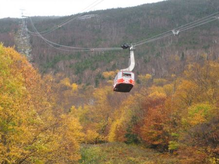 Free Cable car over Cannon Mt in New Hampshire