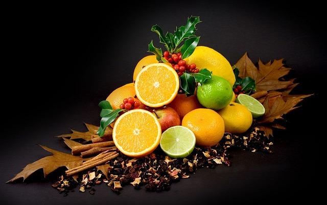 Free colorful fruits citrus lemon vitamins healthy