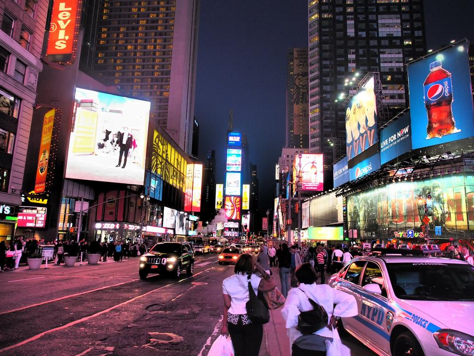 Free New York Times Square Night View