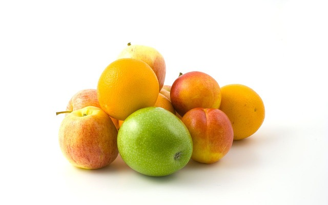 Free background colorful fruits healthy isolated white