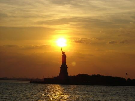 Free Statue of Liberty New York City Sunset
