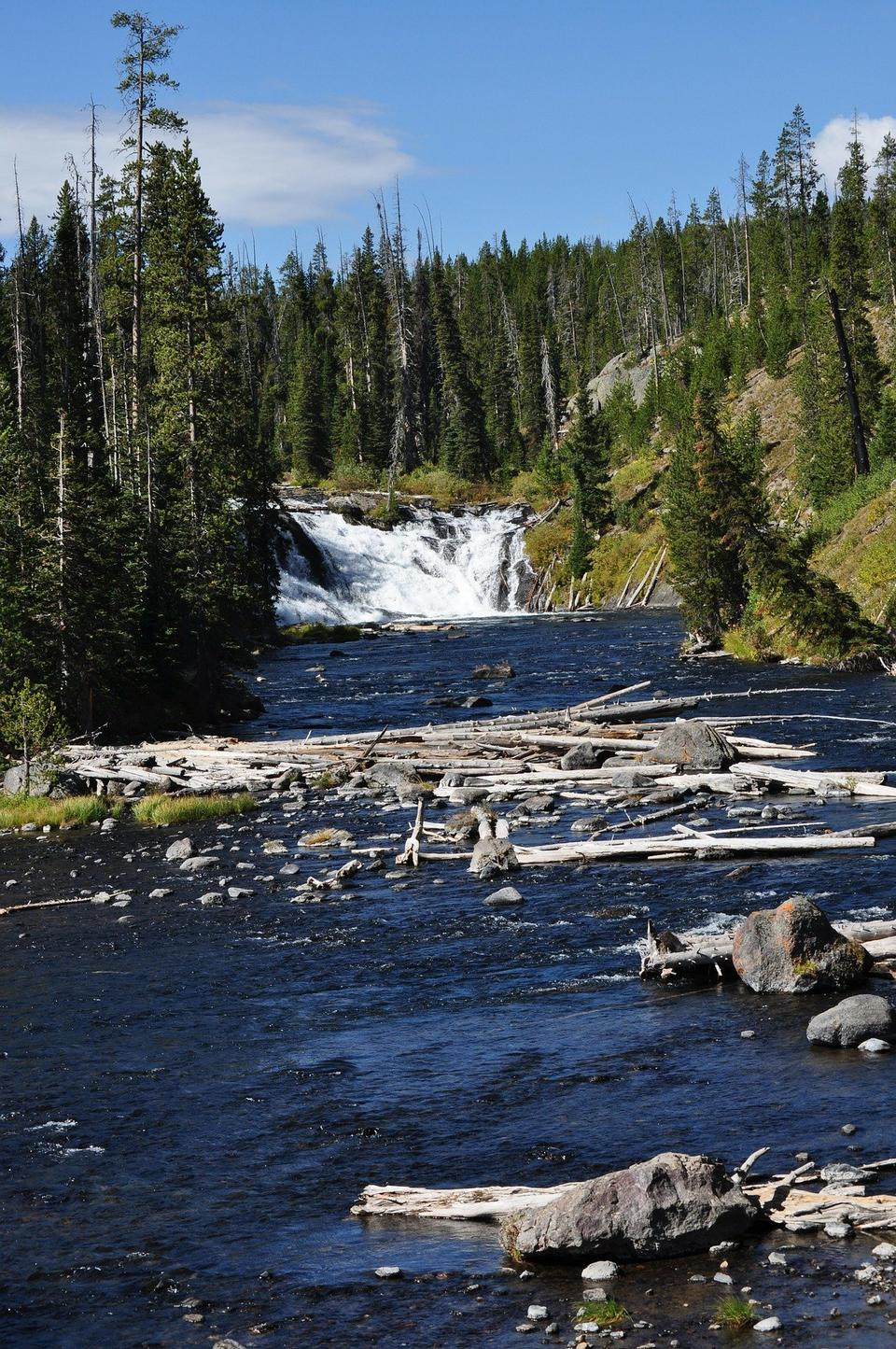 Free Waterfalls in Yellowstone National Park
