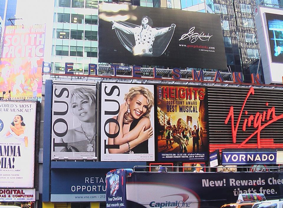 Free Broadway Musical Newsies Billboard in Times Square