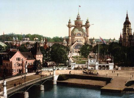 Free Photochrom Bridge Church River Stockholm