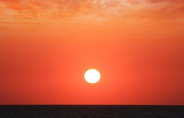 Free ocean red sea sky sunset waterscape