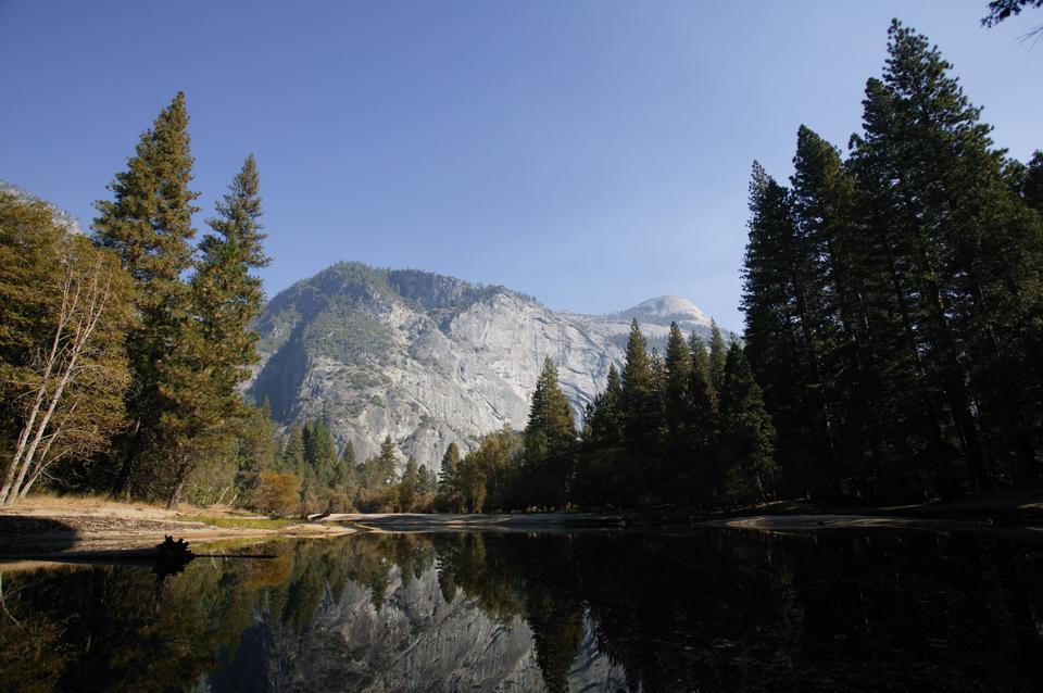 Free Mirror Lake Reflections Yosemite Valley Wilderness