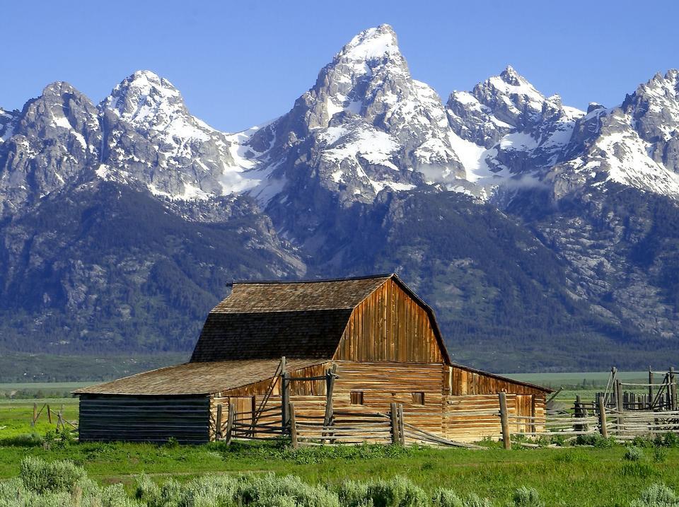 Free Barn Hut Mormonisch Wyoming National Park