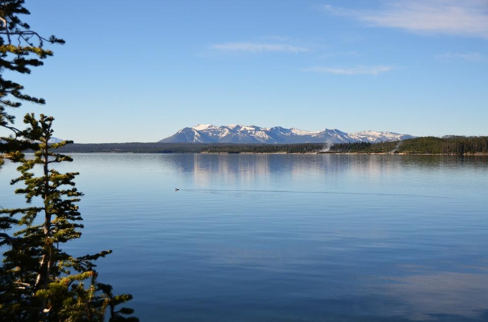 Free Yellowstone Lake View Water Shoreline Nature Scenery