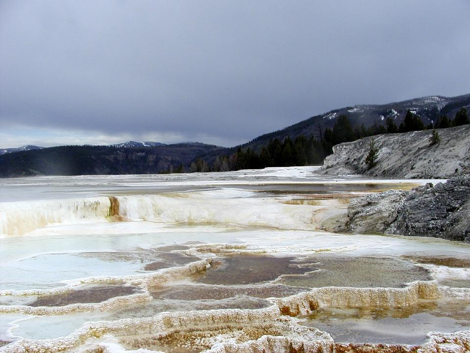 Free Mammoth Hot Springs Terrace Minerals
