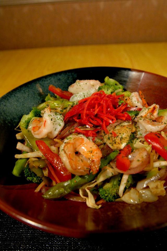 Free Dinner Shrimp Yakisoba
