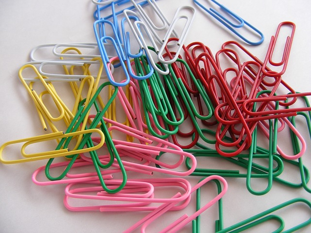 Free binder clips colored multi office paper
