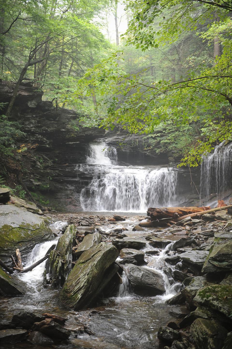 Free Waterfalls in Ricketts Glen State Park