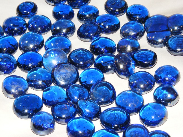 Free blue orange ornamental stones white