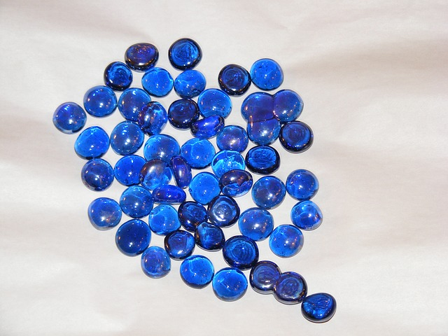 Free blue orange ornamental stones white