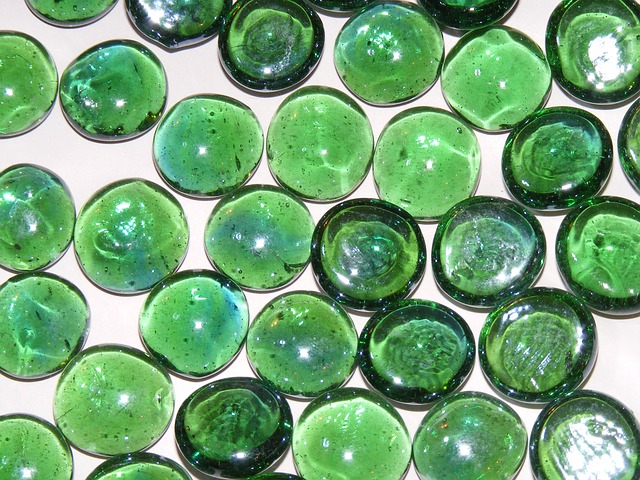 Free background coloured green ornamental stones