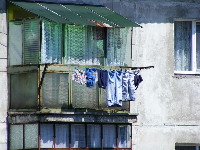 Free clothesline drying hanging laundry outside poverty