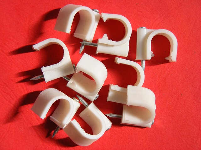 Free accessories cable cables clips nail round white