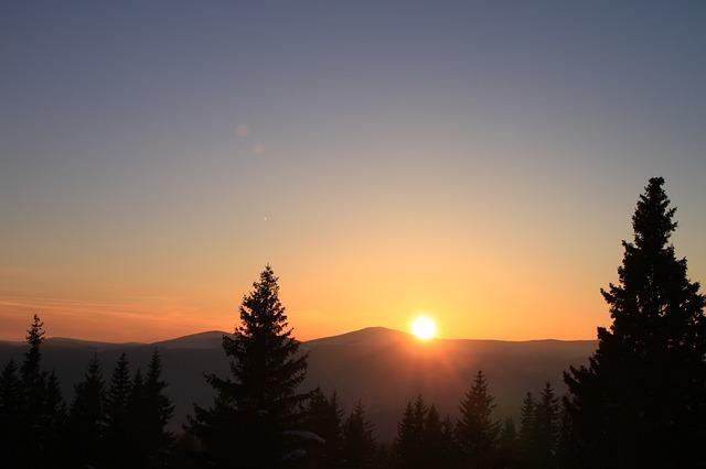 Free cold gorj mountain orange ranca romania snow sun