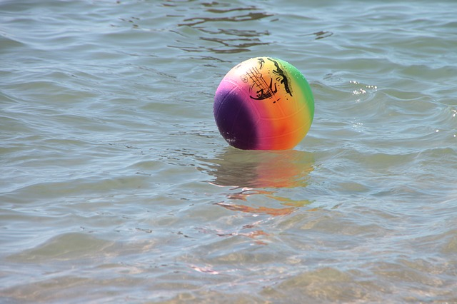 Free ball colored sea soccer water wave objects