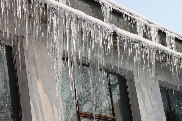 Free cold hanging home house icicles roof winter